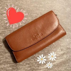 NEW Brown Leather Coach Women's Wallet